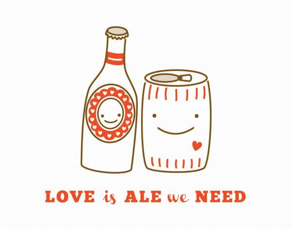 Cute Hearty Ale Love Card