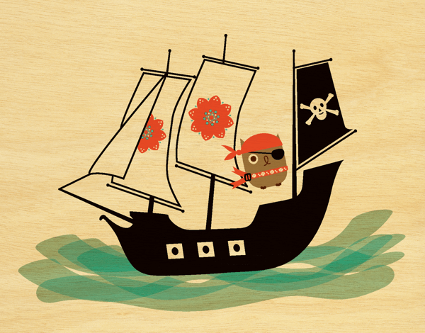 Penelope Pirate Owl Friend Card