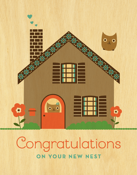 Vintage New Nest Congrats Card