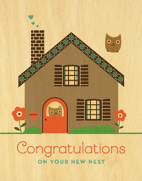 Vintage New Nest Congrats Card