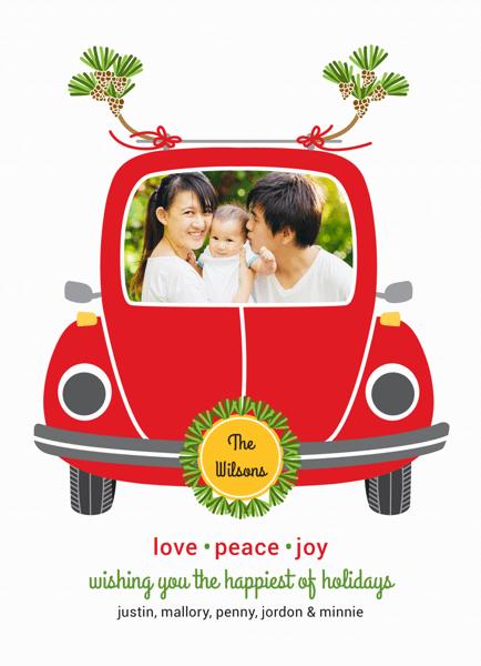 Cute Car Family Photo Holiday Car