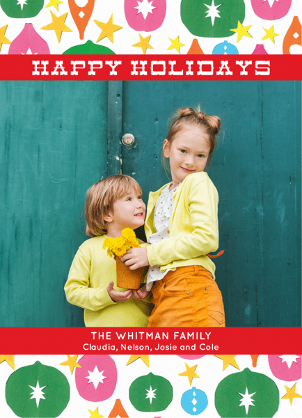 Ornaments Photo Happy Holidays Card