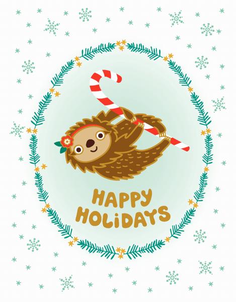 Holiday Sloth