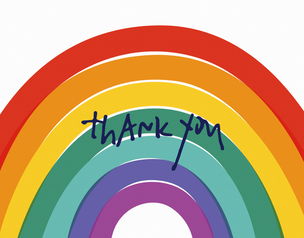 Big Rainbow Thank You