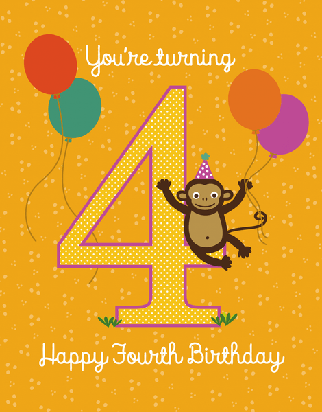 Turning Four Monkey