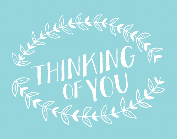 Hand Drawn Thinking Of You Card