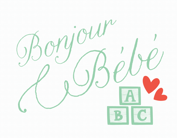Bonjour Babe Welcome Baby Card