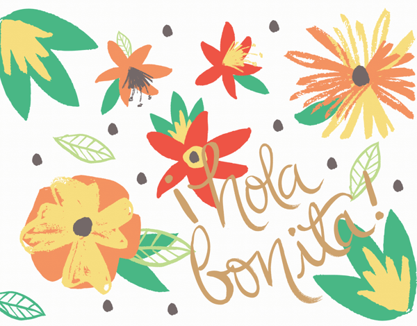 Tropical Hola Bonita Friend Card