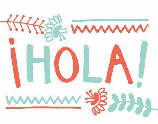 Fun Hola Hello Card