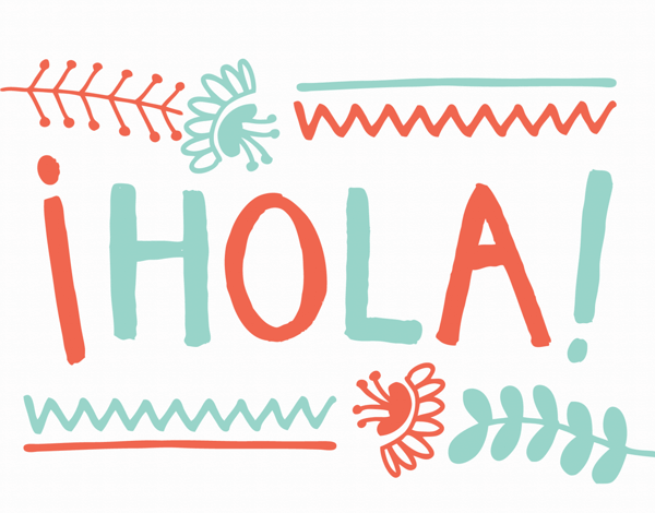 Fun Hola Hello Card