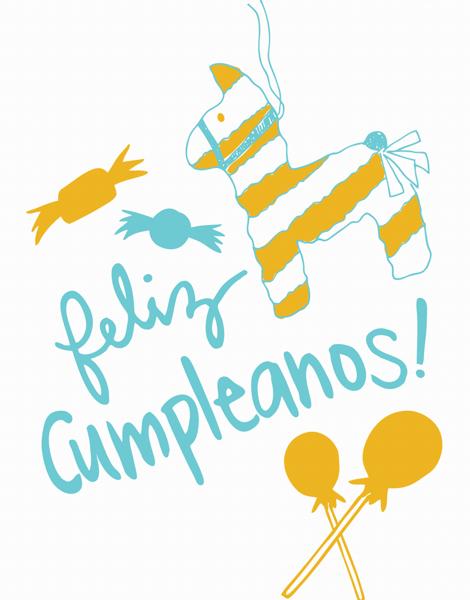 Pi–ata Feliz Cumpleanos Birthday Card