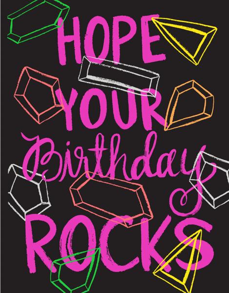 Birthday Rocks