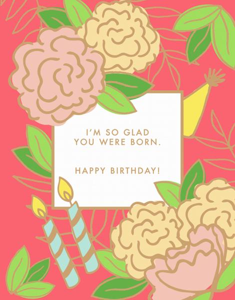 So Glad You Were Born