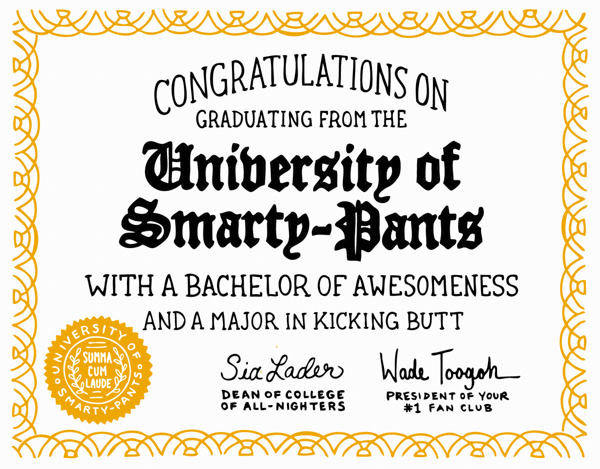 Smarty Pants Diploma