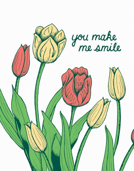 Smile Tulips