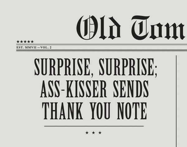 Witty Vintage Thank You Card