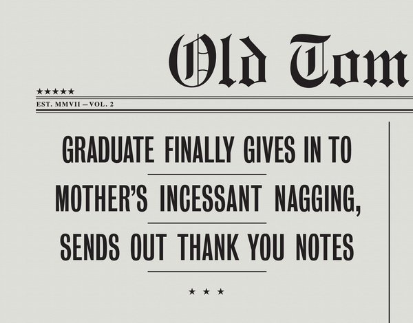Sarcastic Graduate Thank You Note