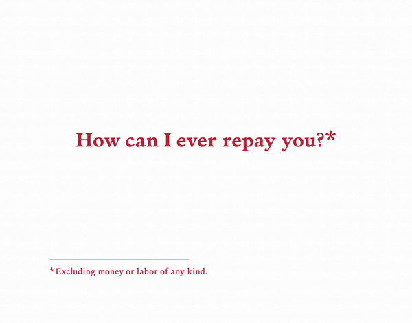Repay You Thank You Card