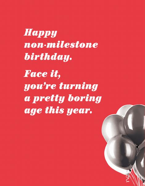 Non Milestone Birthday