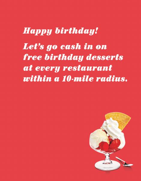 Birthday Desserts