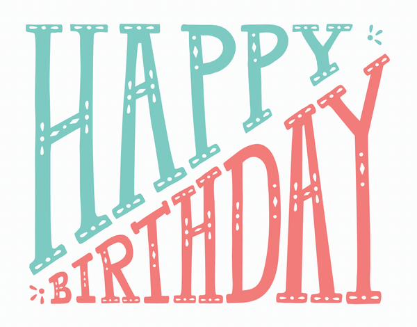 Diagonal Happy Birthday Card
