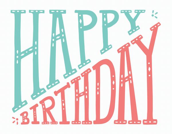 Diagonal Happy Birthday Card