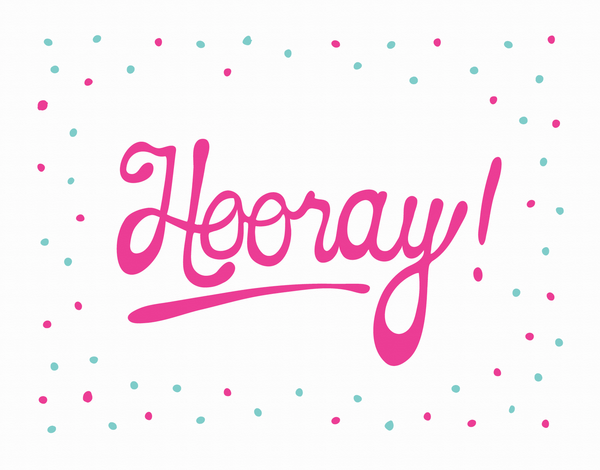 Dotted Hooray Card