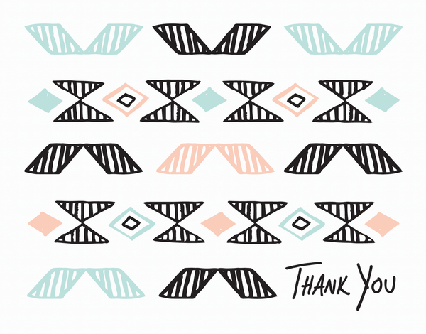 Pendleton Pattern Thank You Card