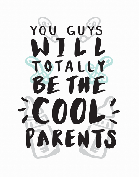 The Cool Parents Baby Congrats Card