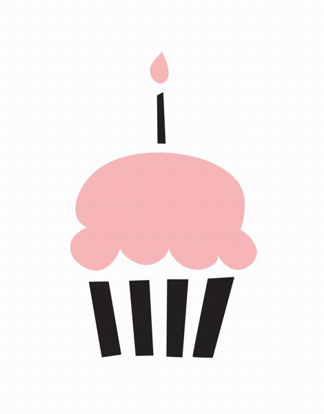Fun Pink Cupcake Birthday Card