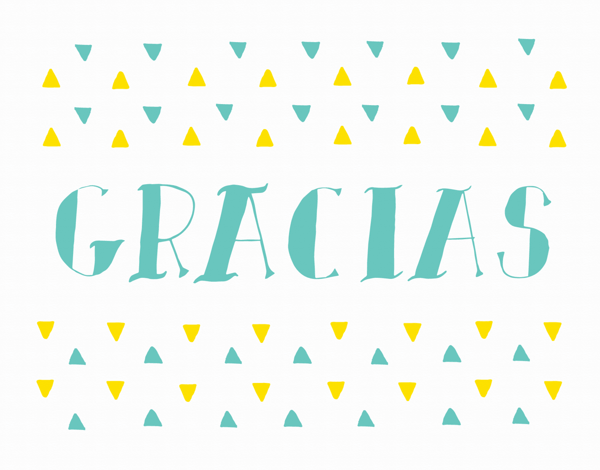Hand Lettered Gracias Thank You Card