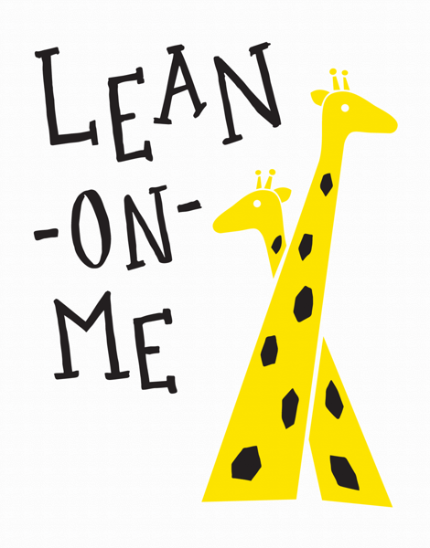 Cute Lean On Me Friend Card