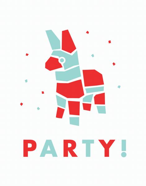 Pi–ata Party Card