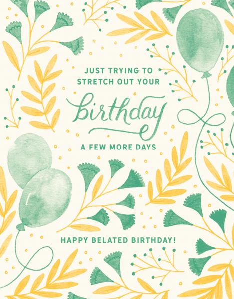 Belated Birthday