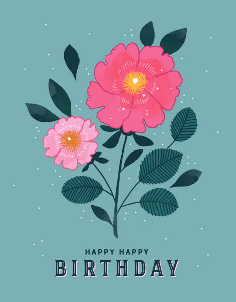 Floral Cluster Birthday