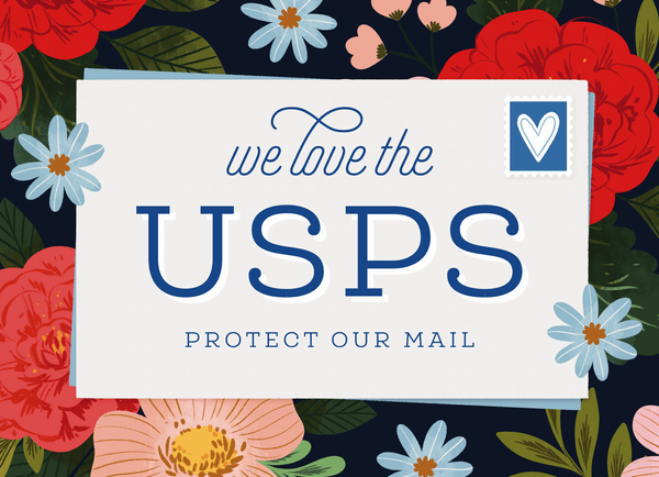 Floral Save The USPS