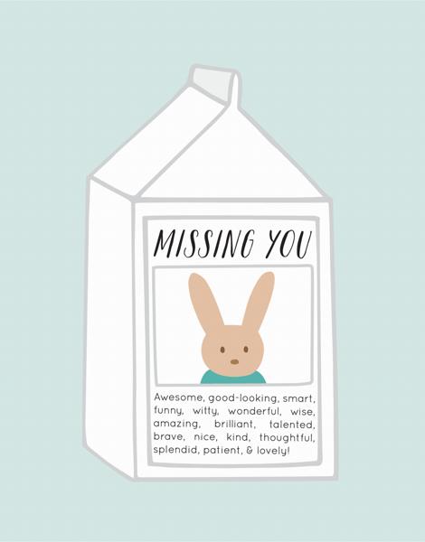 Bunny Milk Carton