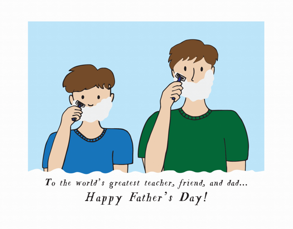 Father Son Shaving