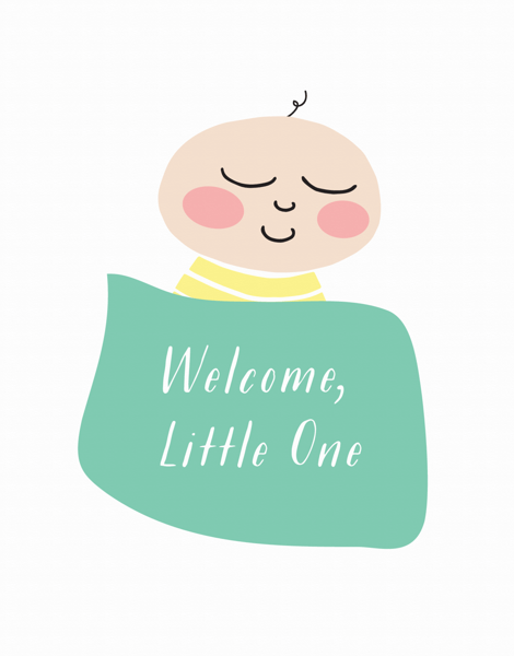 Welcome Little One Blanket