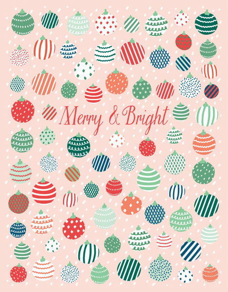 Merry And Bright Ornaments