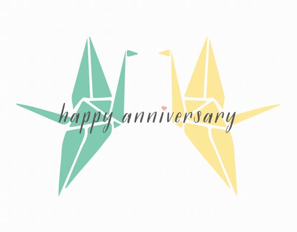 Anniversary Cranes