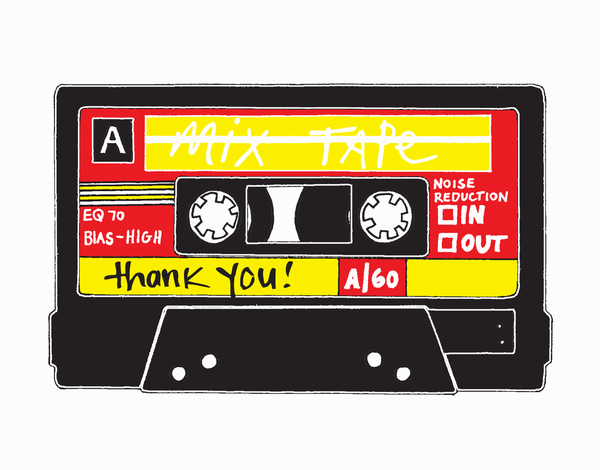 Mix Tape Thank You Card
