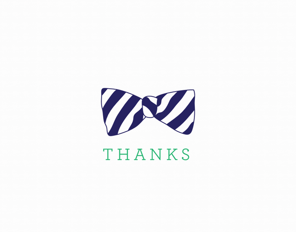 Bow Tie Thank You Card