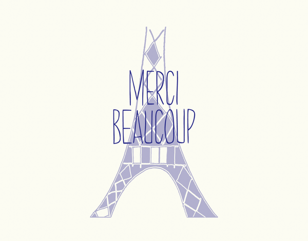 Merci Eiffel Tower Thank You Card