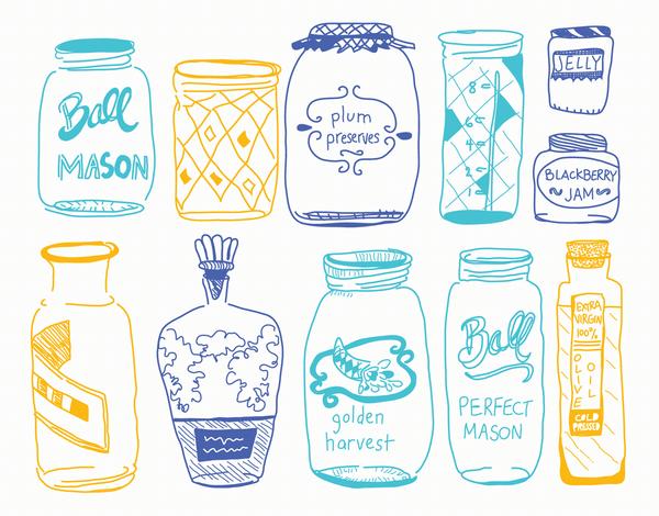 Mason Jar Art Card