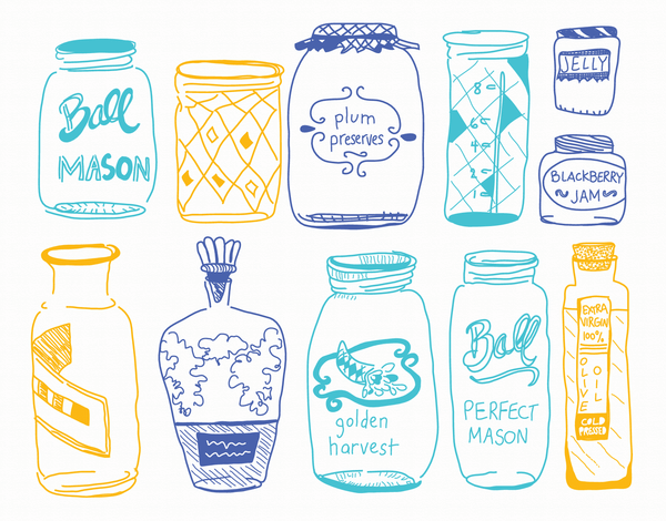 Mason Jar Art Card