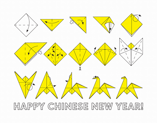 Chinese New Year Origami Card