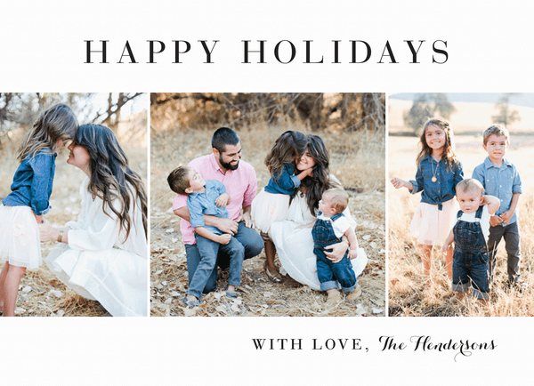 classic multi photo happy holidays card template