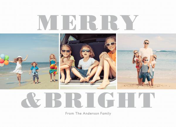 minimalist christmas card collage