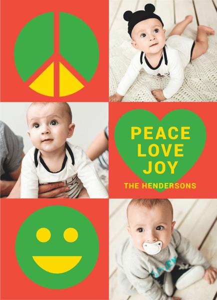 peace love joy multi photo christmas template